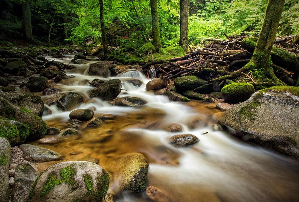 Mit dem Graufilter am Geroldsauer Wasserfall