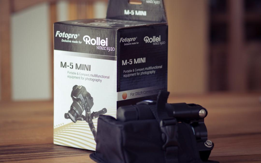 Das perfekte Reisestativ für Micro Four Thirds: Fotopro/Rollei M-5 Mini