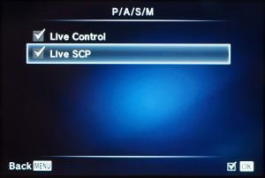 """(4) Die Option """"Live SCP"""" aktivieren"""