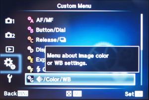 """(1) Im Custom-Menu Punkt """"G"""" auswählen"""